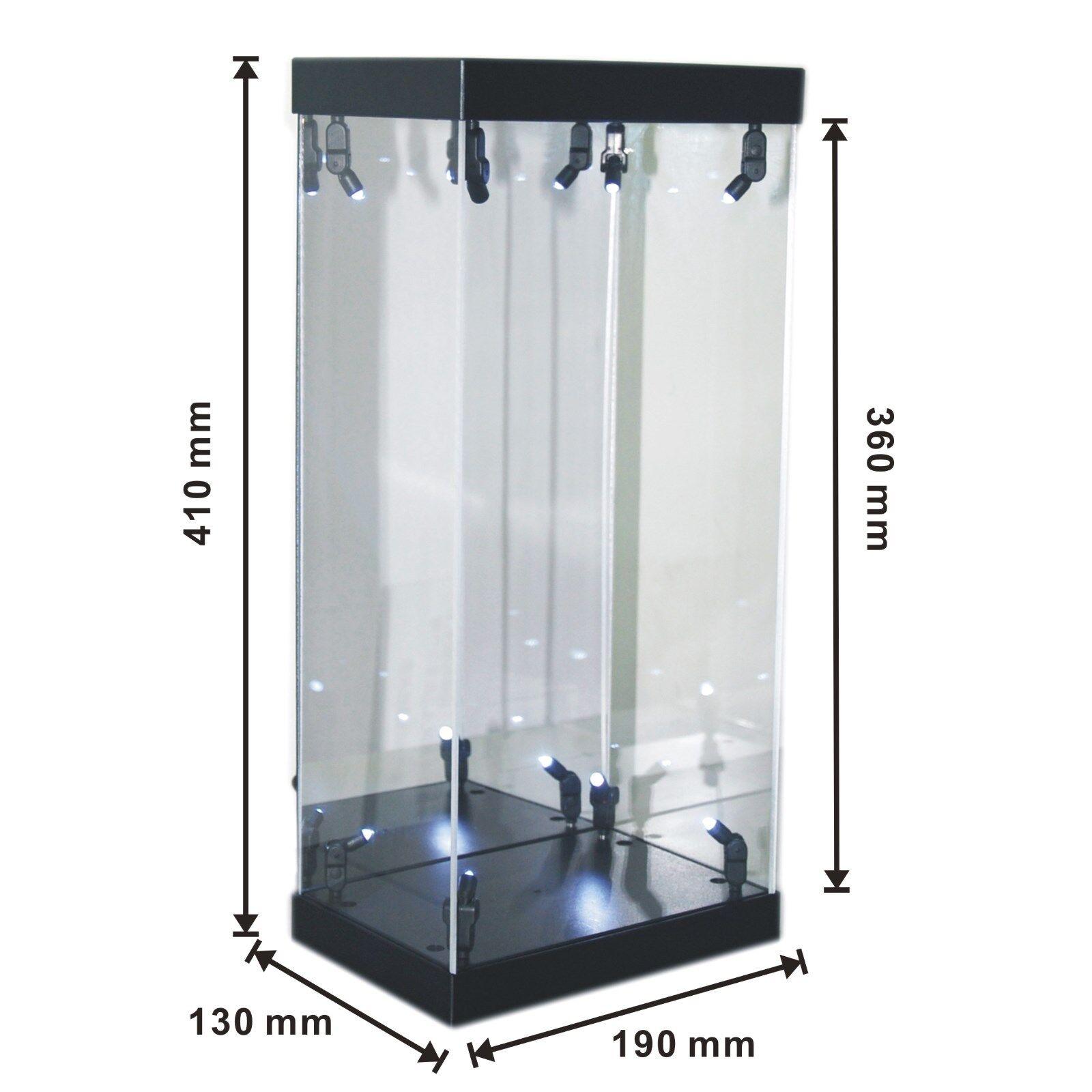 Caso de exhibición de acrílico Caja de Luz LED Para 12  1 6th escala QUICKplata Figura De Acción