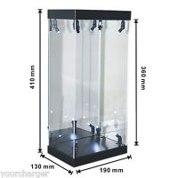 """Display Box Acrylic Case LED Light House for 12"""" 1/6 Scale Phicen Action Figure"""