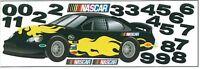 Nascar Racecar In Black Mini Mural Sk6466m