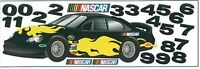 Nascar Racecar In Black Mini Mural Sk6466m