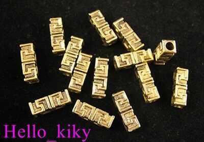 60pcs Antiqued gold plt Greek key spacer beads A337