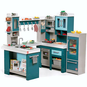 Kids Wooden Play Kitchen 15 Piece Set