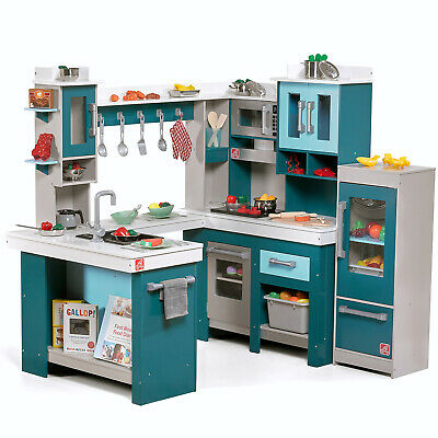 Kids Wooden Play Kitchen 15 Piece Set