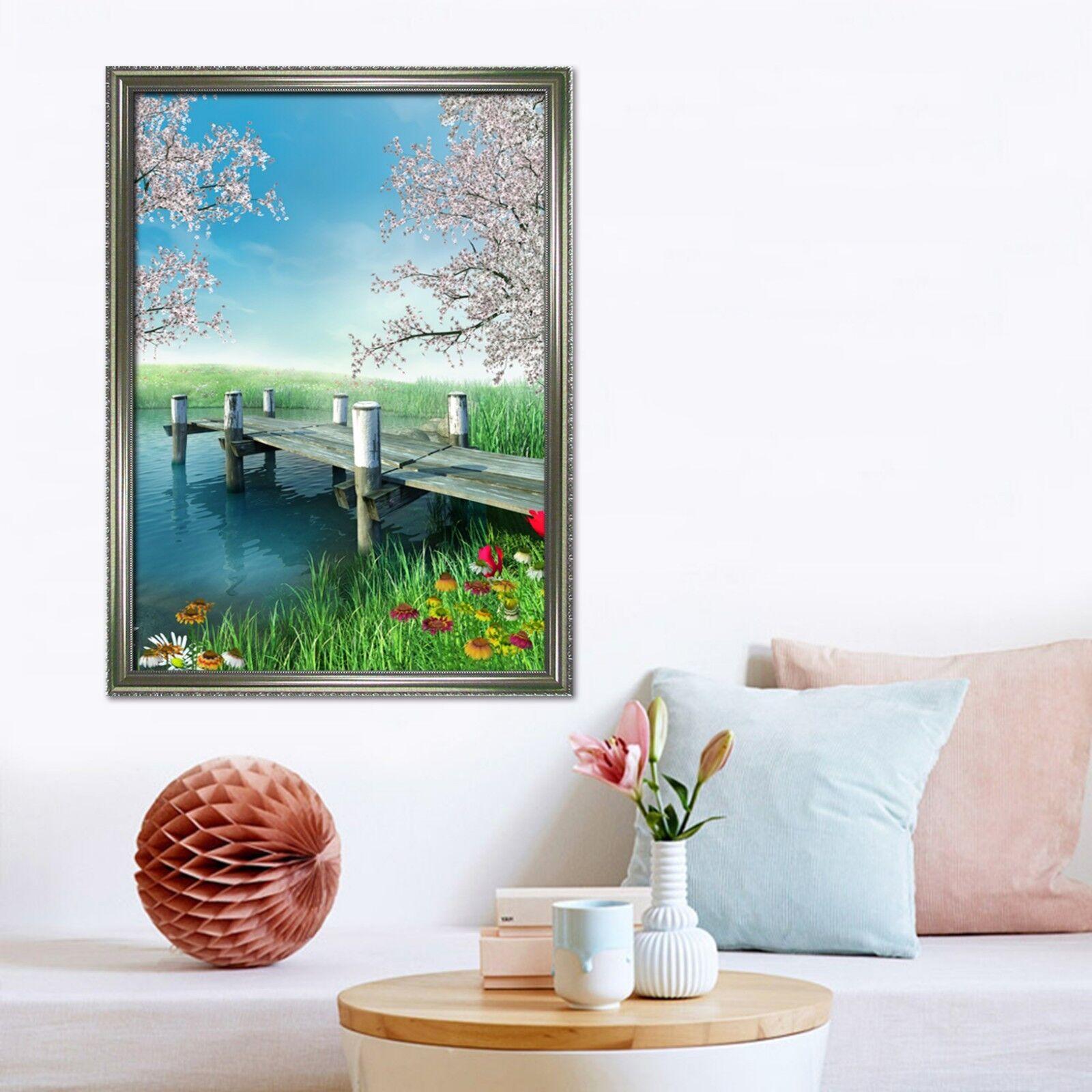 3D Pfirsichblüte Coast 2 Gerahmt Poster Daheim Dekor Drucken Malerei Kunst AJ DE