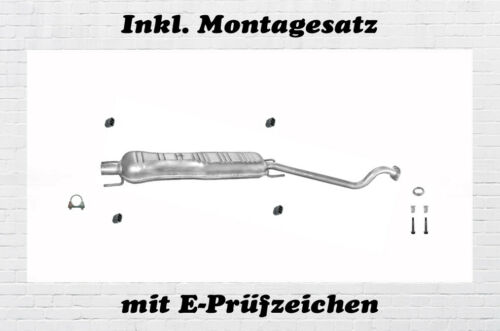 Opel Astra G Coupe Cabrio 1.6 1.8 2.2 Mittelschalldämpfer Auspuff Montagesatz