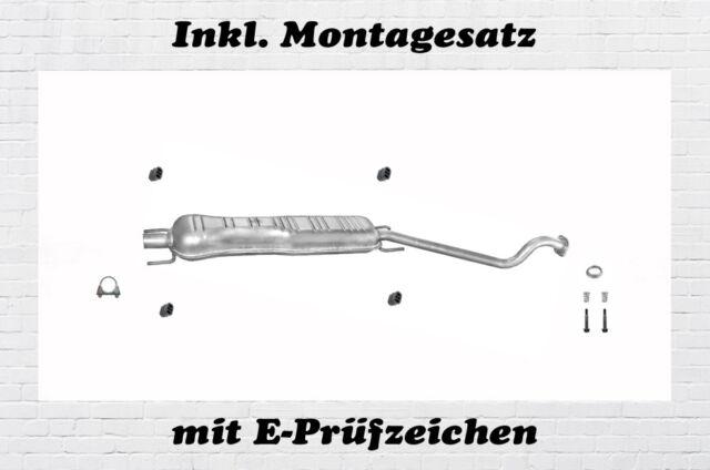 Opel Astra G Coupe Cabrio 1.6 1.8 2.2 Mittelschalldämpfer Auspuff + Montagesatz