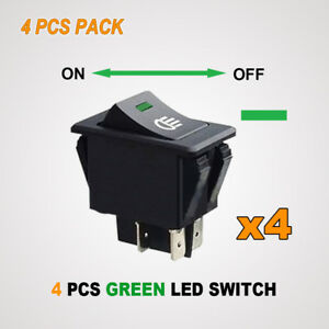 4x-GREEN-LED-ROCKER-SWITCH-TOGGLE-TOYOTA-SPOT-FLOOD-WORK-DRIVING-LIGHT-BAR-12V