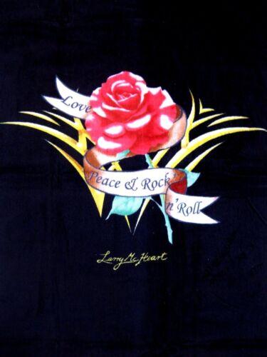 Larry mc Heart éponge SERVIETTE serviettes serviette Motifs Rose Black 76x152 cm