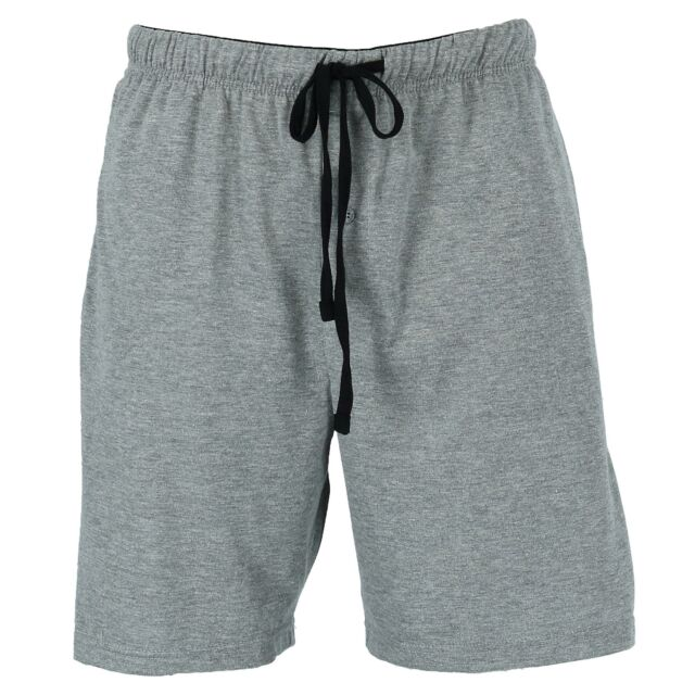 Genuwin Mens 100/% Cotton Jersey Lounge Shorts with Button Up Fly and Drawstring Pyjama Bottoms Lounge Pants