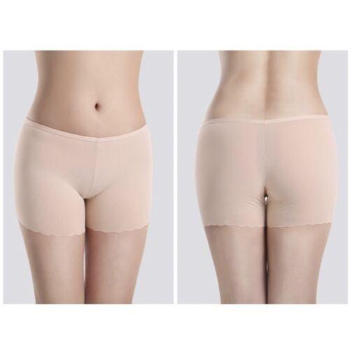 Ice-Silk Women Shorts Creative High Elastic Safty Shorts Beige Economic Dress