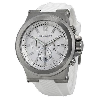 Michael Kors Dylan Silver Dial Chronograph Mens Watch MK8380