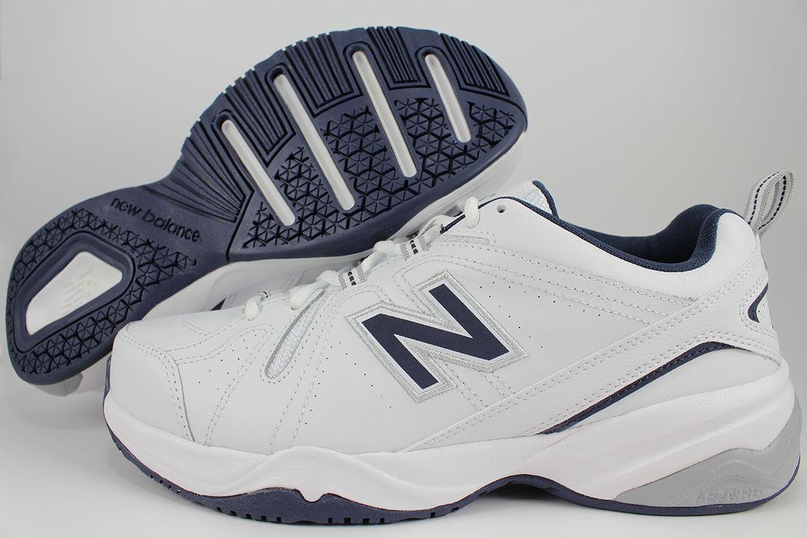 NEW BALANCE 608 V4 EXTRA WIDE 4E EEEE WHITE/NAVY BLUE/GRAY MX608V4W TRAINER MENS