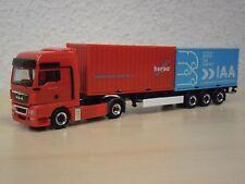 """Herpa - MAN TGX XXL 2x 20ft Container-Sattelzug """"64. IAA 2012"""" Nr. 907446 - 1:87"""
