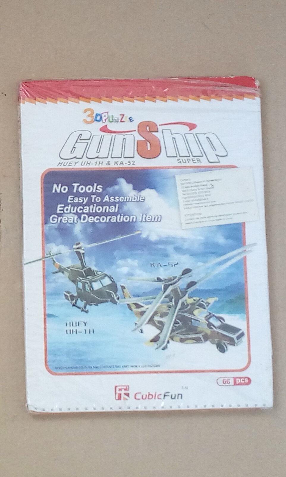 3D PUZZLE 2 élécopter us huey UH-1H & KA52