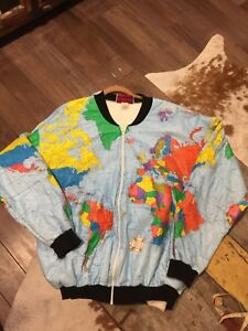 Details about VintagePaper Tyvek Map Of The World Jacket Rare