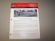 1960's MF 61 7 FOOT MOWER CONDITIONER MASSEY FERGUSON PRODUCT INFORMATION MANUAL