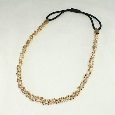 Braided Metal Chain Headwrap Headband Hair Accessories Bridal Wedding Wig HB2278