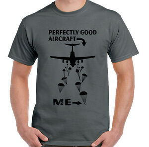 Parachute-Regiment-T-Shirt-Perfectly-Good-Aircraft-Mens-Funny-1-2-3-4-Para-SFSG