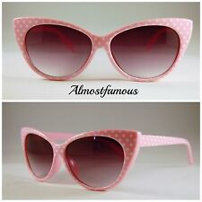VTG 50s/60s Style womens Cat Eye Sunglasses Retro Rockabilly Glasses #5