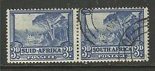 SOUTH AFRICA 1933 - 54 3d Bilingual Pair ( 141 )