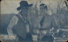Cowboy Actor Fred Humes in Arizona Cyclone Exhibit Arcade Card