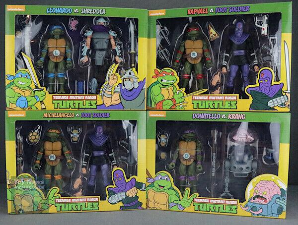 NECA Teenage Mutant Ninja Turtles Target 8 Figuras 4 packs Set tortues ninja