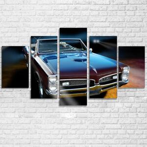 Classic-Pontiac-GTO-1967-Luxury-Car-Poster-5Pcs-Canvas-Print-Wall-Art-Home-Decor