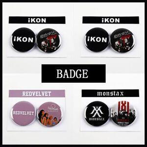 2pcs-set-IKON-STRAY-KIDS-MONSTA-X-RED-VELVET-Chest-Pins-Badge-Brooch-Button