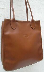 Détails sur -AUTHENTIQUE sac à main LONGCHAMP cuir TBEG vintage bag