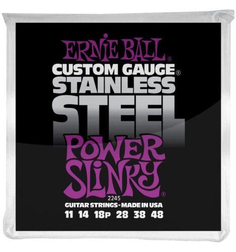 Jeu de cordes guitare électrique Stainless Steel Power Sl Ernie Ball 2245