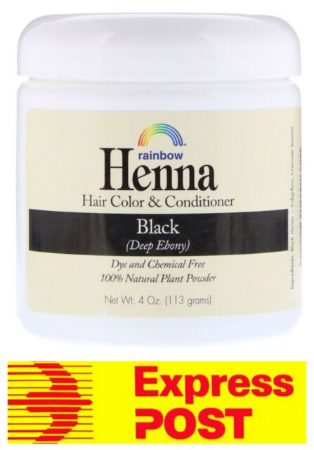 Rainbow Research Henna Natural Hair Colour & Conditioner Black 113 g