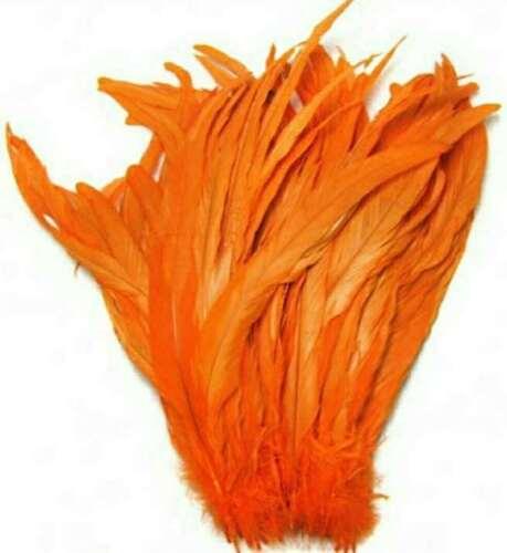 10pz piume di gallo coda lunghezza 40//45cm degorazione capello carnevale