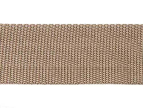 Bänder 25mm breit BEIGE Dicke 1,3mm 25m lang Gurtband