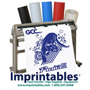 Vinyl cutter package 24 quot gcc puma iii w stand and sign making supplies