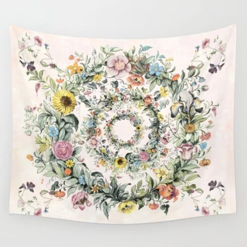 Circle of life-floral Tapestry Wall Hanging Mandala Hippie Home Tapestries Decor