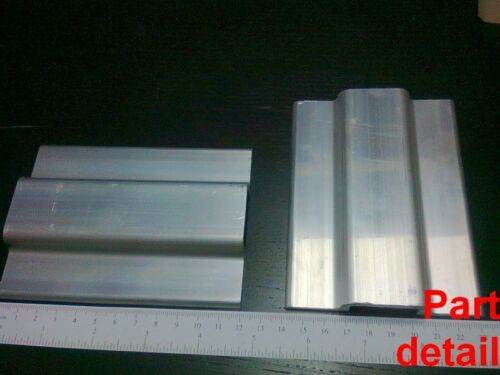 Aluminum T-slot profile blank double panel-mesh retainer 20 series L120mm 4-set