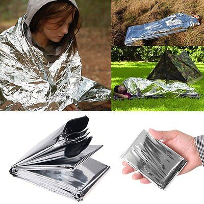 Emergency Waterproof Thermal Survival Blanket Rescue First-Aid Camp Tent