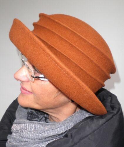 Femmes Chapeau rostfarbig Elegant best-seller damenhüte anlasshüte automne hiver