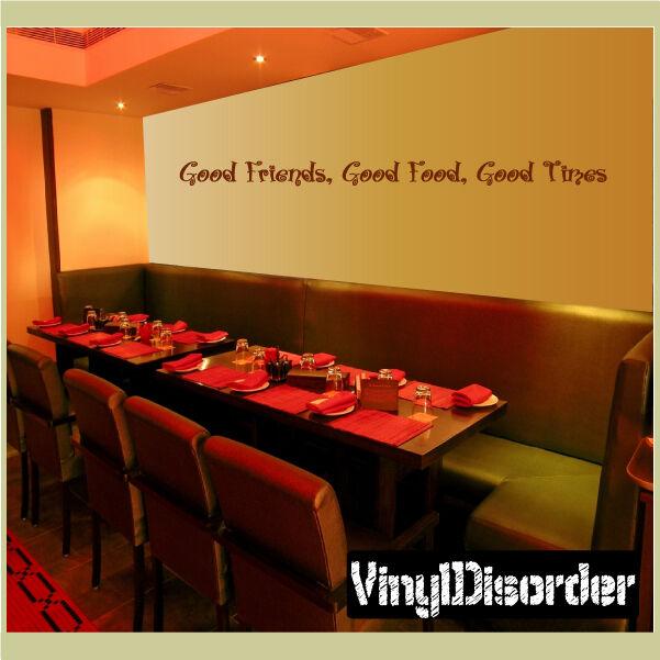 Buenos amigos, buena comida, buenos tiempos cotización De Parojo Mural Calcomanía-kitchenquotes 01
