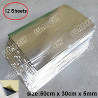 12 Sheets Self Adhesive Closed Cell Foam Glass Fibre 5mm Car Sound Insulation