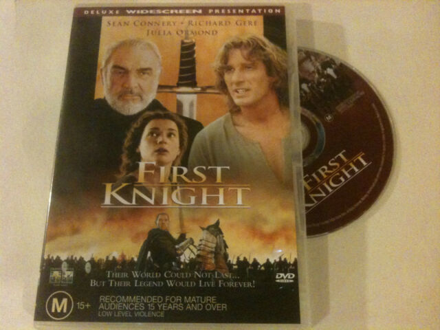 'FIRST KNIGHT' 1998 Region 4 DVD - Sean Connery, Richard Gere