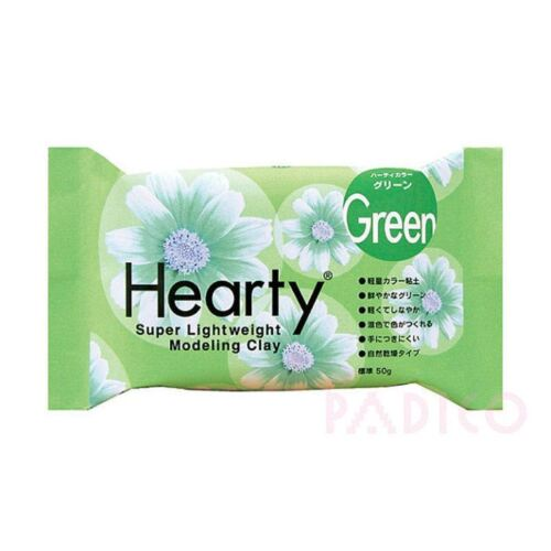 Katy Sue Hearty Soft Light Green Air Drying Modeling Paper Craft Clay 50g Pack