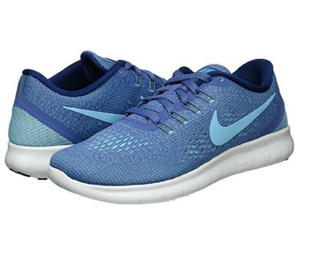 31a025cfd16f WMNS Nike RN Blue White Barefoot Womens Running Shoes Trainers ...