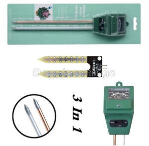 3 in 1 Soil PH Moisture Tester Humidity Test Light Meter for Garden Plant Flower