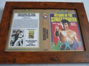 VHS-Manche-encadree-Couvre-BIG-BOX-a4-VTC-video-The-Return-of-the-street-fighter
