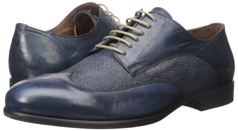 punto vendita Bacco Bucci Uomo Uomo Uomo Agata Oxford blu Leather Linen SZ 10.5 MSRP 295  ITALY  vendite dirette della fabbrica
