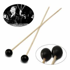 1Pair-Xylophone-Glockenspiel-Hard-Rubber-Head-Hardwood-Mallets-Sticks-Beaters