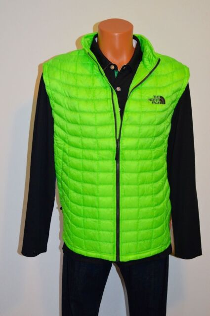 The North Face Puffer Jacket Thermoball Vest Mens Size Xl Power Green P27