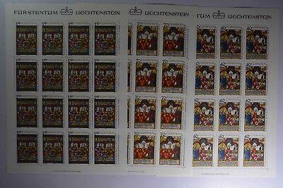02 Kompl. Zu Den Ersten äHnlichen Produkten ZäHlen GroßZüGig N6 Liechtenstein 731-733 Kleinbogensatz Postfr.