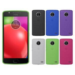 Funda-gel-lisa-Motorola-MOTO-E4-protector-cristal-opcional